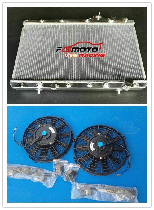 New Aluminum Radiator Fans For Honda CRV CR-V 2.0 L4 4CYL 2.0 L4 1997-2001 AT