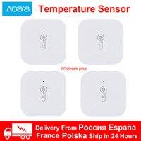 Sensor inteligente de temperatura de presión de aire Xiaomi Aqara Zigbee, Sensor de Ambiente de humedad, conexión de Control remoto para Mijia App