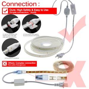 Image 5 - 220 فولت LED قطاع 2835 سلامة عالية سطوع عالية 120 المصابيح/م مرنة LED إضاءة خارجية مضادة للماء LED قطاع الخفيفة.