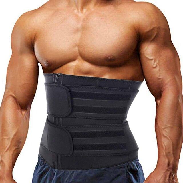 Men Waist Trainer Neoprene Sauna Underwear Cincher Corset Slimming Belt Modeling Strap Sweat Body Shaper Reductora Unisex Girdle 2