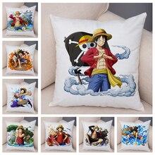 Pillowcase Soft Cushion-Cover Monkey-D One-Piece Plush-Japan Cartoon Chair-Decor Sofa