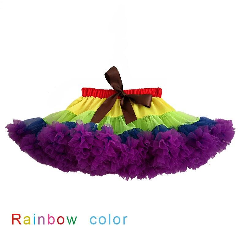 Радужная пышная шифоновая пачка, юбка-пачка для дня рождения для принцесс, праздничная Праздничная юбка, юбка для танцевальных представлен...