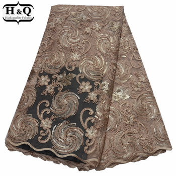 Gorgeous Wedding French Tulle Lace Sequins Glitter Lace African Net Lace Fabric Bone Rope Embroidered Lace Fabric Nigerian Lace