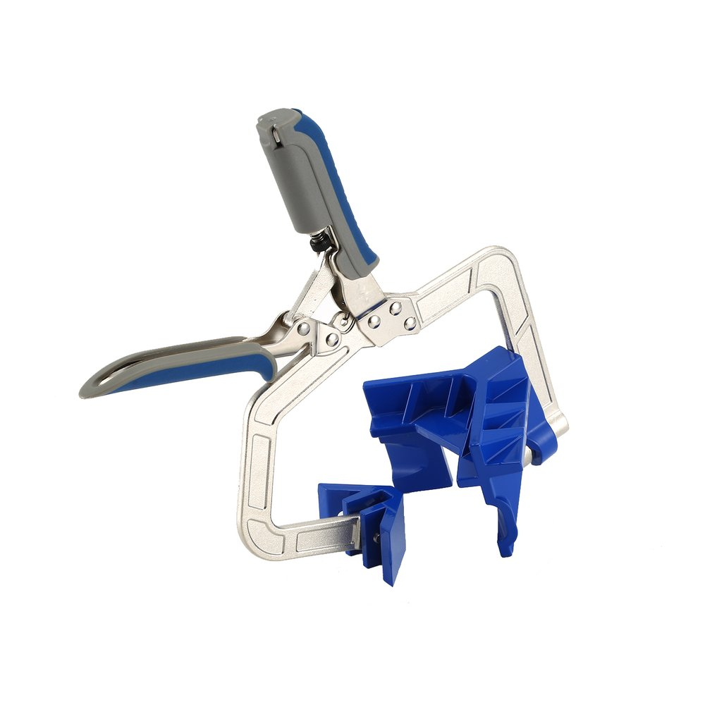 90 Degree Right Angle Fixed Punch Mounter Corner Clamp Miter Jigs Woodworking Tool T Joints <font><b>KHCCC</b></font> For Kreg Jigs image