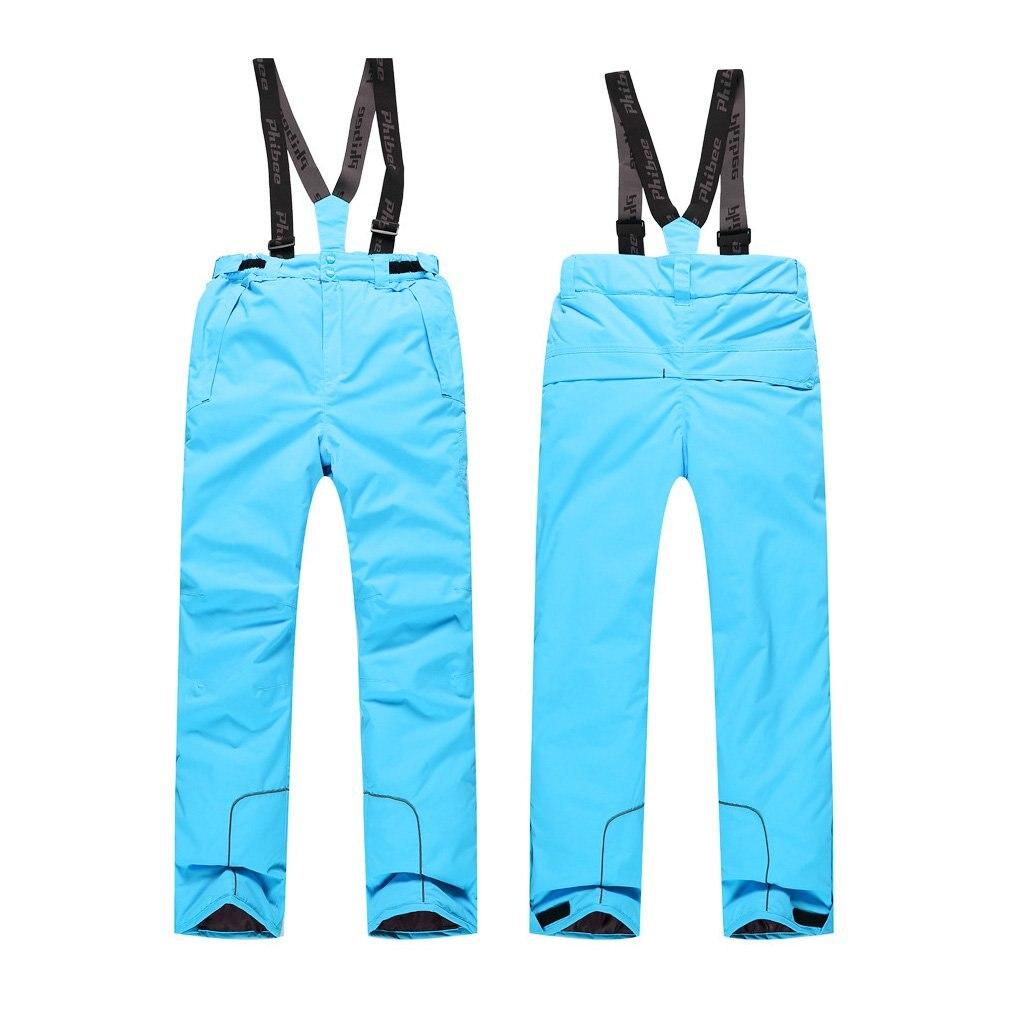 Children Kids Winter Warm Outdoor Waterproof Ski Pants Bibs Snow Trousers Dropshipping