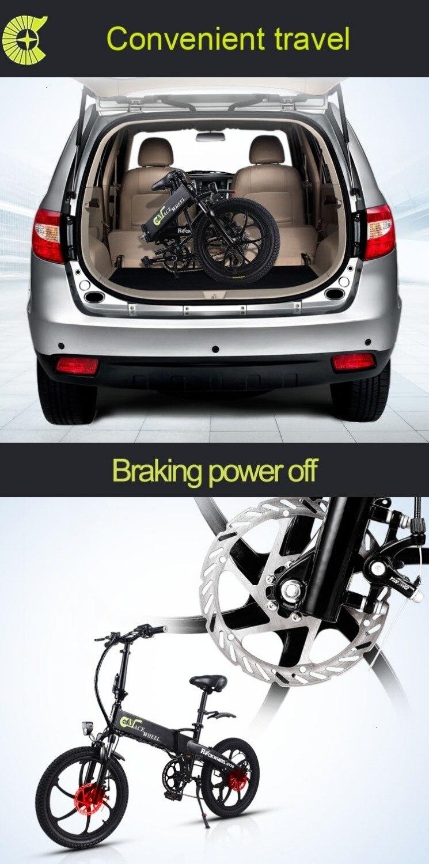 Stock & Russia Europe 20'' Electric Folding Bike 48V Motor 7 Speed gears E-Bike Front Rear Disc Brake Magnesium Alloy Wheel 2