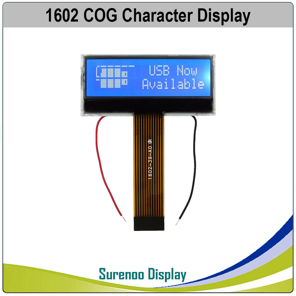 162 16X2 1602 COG SPLC792A Serial SPI Character LCD Module Display Screen LCM Blue Negative With White LED Backlight