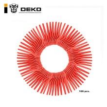 DEKO 100 Шт Качели пластиковые подвески с лезвиями для DKGT06 20 в литиевый 1500 мАч беспроводной триммер садовый Timmer A