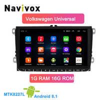 Navivox Android 8.1 voiture DVD GPS Navigation pour Skoda POLO GOLF 5 6 PASSAT B5 B6 TIGUAN TOURAN siège caddie rapide