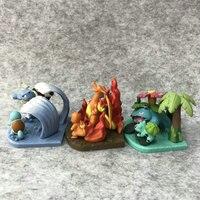 5.5 6.5cm Pokemon Pikachu Charizard Bulbasaur Blastoise Action Figure toys For children