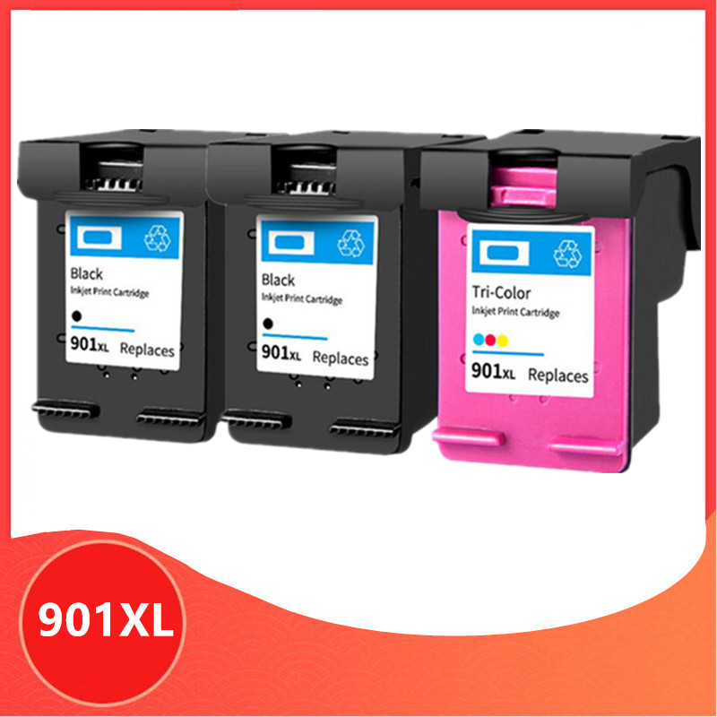 3PCS 901XL Cartridge Compatible for <font><b>hp</b></font> <font><b>901</b></font> <font><b>xl</b></font> for hp901 Ink Cartridge for Officejet 4500 J4500 J4540 J4550 J4580 J4680 printer image