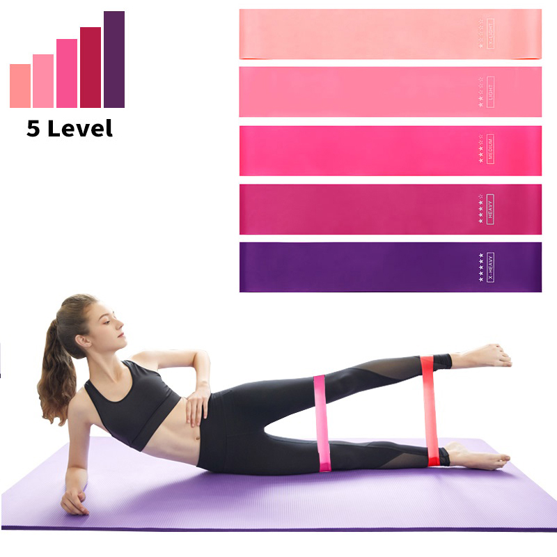 5 kom / set fitnes gumenih vrpci elastična traka za sportsku joga - Fitness i bodybuilding - Foto 6
