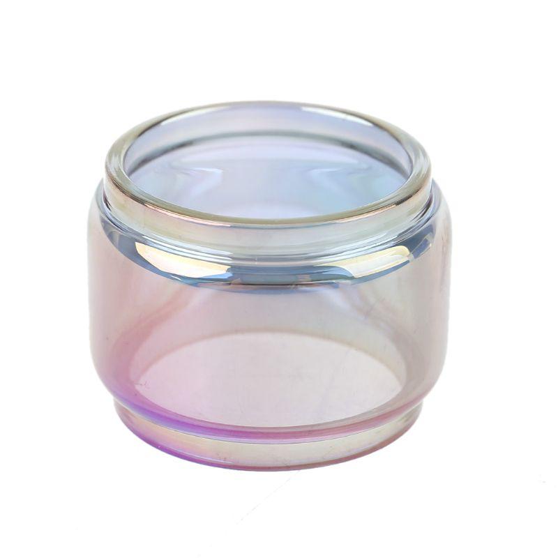 Fatboy Version Rainbow Pyrex Glass Tube Glass Tank For Zeus Dual RTA Atomizer PXPE