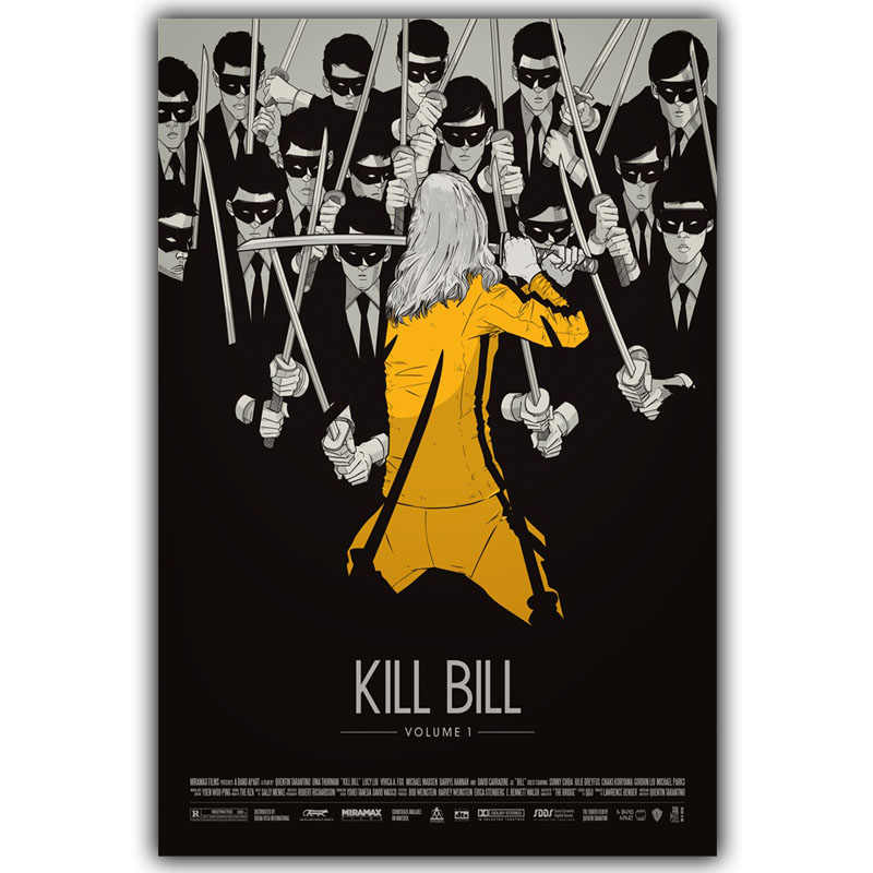 Kill Bill Arte Della Seta Poster Stampa 30X45Cm 50X75Cm Film Immagini Living Room Decor