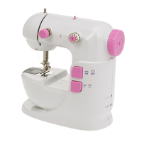 Mini Sewing Machine US Plug Adjustable Double Speed Double Thread Wide Table Cut Wire Free Arm Sleeves with Pedal Sewing Machine