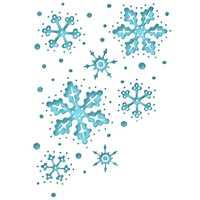 Troqueles de corte de Metal copo de nieve relieve de fondo manualidades plantilla para DIY Scrapbooking papel/tarjetas de fotos en relieve