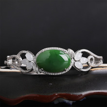 jade bracelet female silver open jade bracelet national wind hand act the role of the hollow out geometric pattern europe and the united states simple fashion gold silver hollow six angle star bracelet hollow geometric bracelet female girl jew