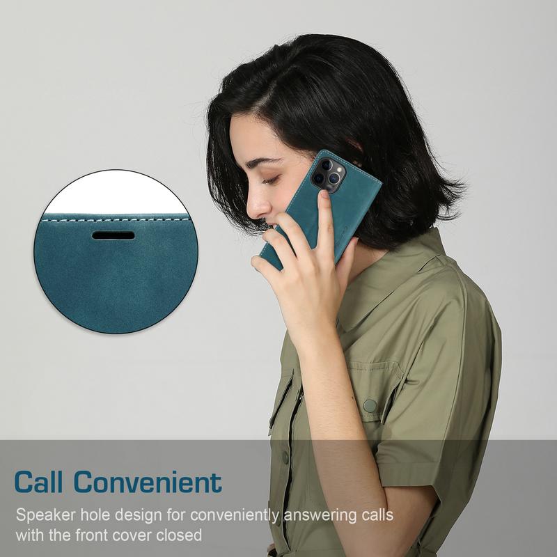 CaseMe Original Flip Case For iPhone 12 11 Pro Retro Magnetic Card Stand Wallet For iPhone 12 min X s Max 6 7 8 Plus SE2020 Case