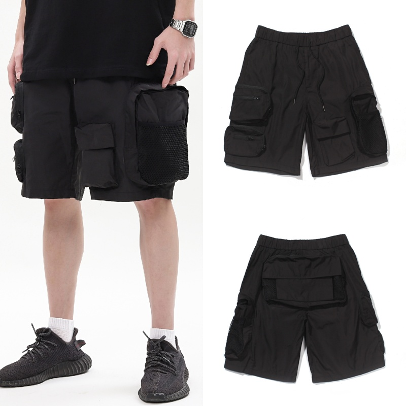2020ss New Arrive Summer Style RHUDE Shorts 1:1 Men Woman Black Stitching Pockets Sportswear Drawstring Casual Pants