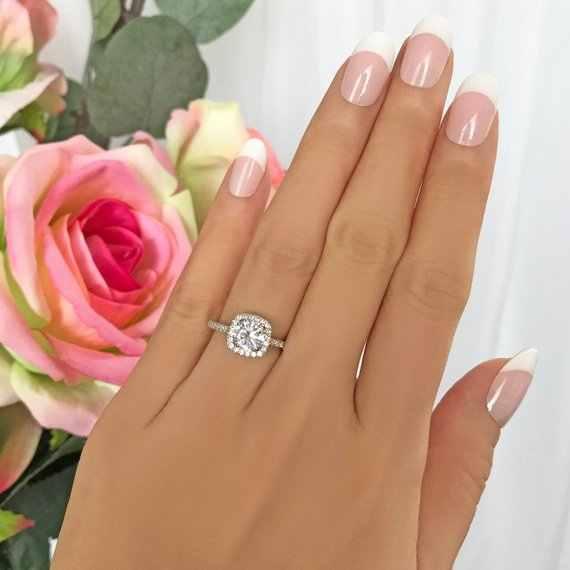 נוצץ גדול ברור AAA CZ טבעת גביש אופנה 925 סטרלינג כסף חתונה תכשיטי נקבה אירוסין טבעות לנשים מפלגה מתנות