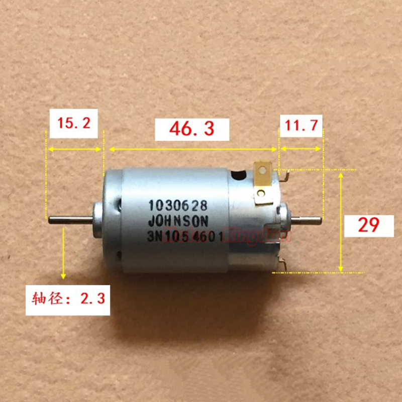 JOHNSON 1030628 Mini <font><b>395</b></font> <font><b>DC</b></font> <font><b>Motor</b></font> 12V 18V 11700RPM High Speed Large Torque Double Dual Shaft DIY Toy Car Model image