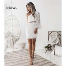 Новинка 2019 сексуальное элегантное белое кружевное платье с