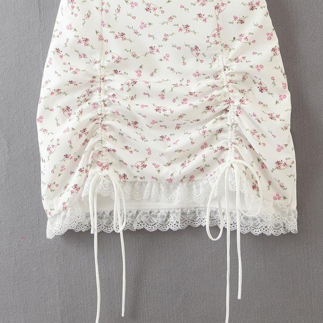 Summer mini Dress string strap and adjustable bottom 4