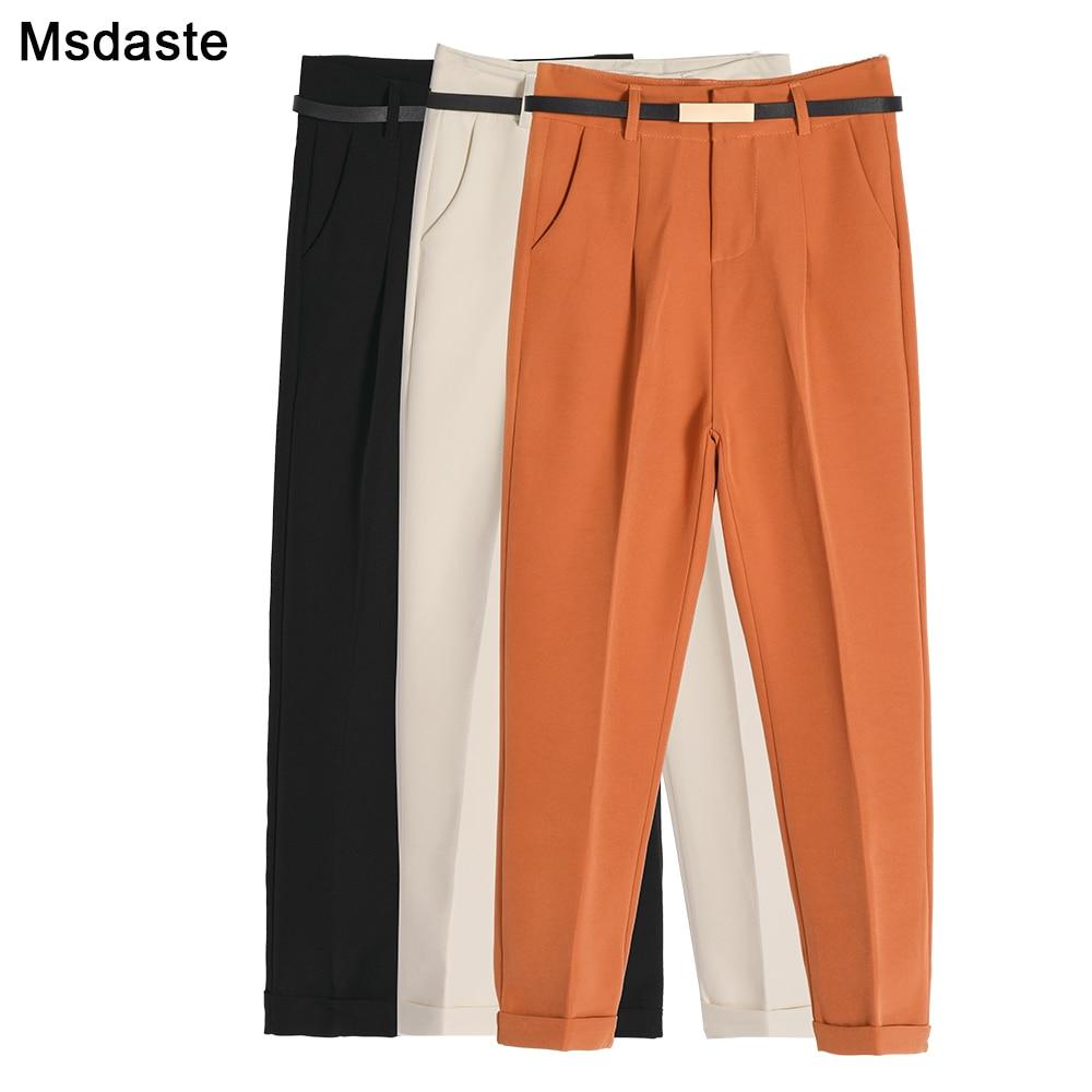 Harem Pants Women 2019 Autumn Spring Formal High Waist Office Lady Pencil Trousers Casual Slim Work Ankle-Length Women's Pants