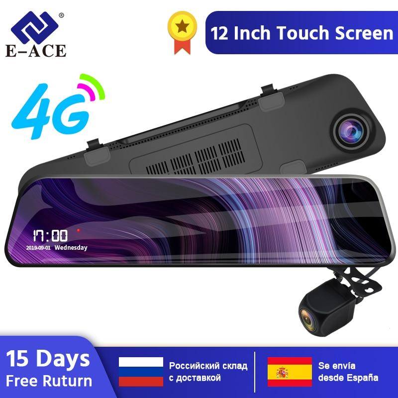 E ACE 12 Inch Streaming RearView Mirror Car Dvr Camera 4G Android 8.1 Dash Cam GPS Navigation ADAS Wifi Auto Registrar Recorder|DVR/Dash Camera| |  - title=