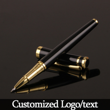 Luxury Metal Silver Black Signature Ballpoint Pens for Business Writing Office School Supplies Stationery Customized Logo gift
