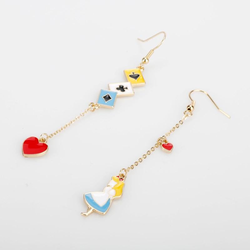 2019-Fashion-Women-s-Earring-Anime-Cute-Enamel-Alice-Wonderland-Princess-Love-Heart-Bunny-Asymmetric-Bangles (1)