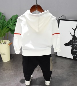 Image 2 - Kids Baby Boy Clothes Sets Casual Letter Printing Autumn Winter Outwear Sets Long Sleeves Tracksuit Top+Pant Outfits Hat Set