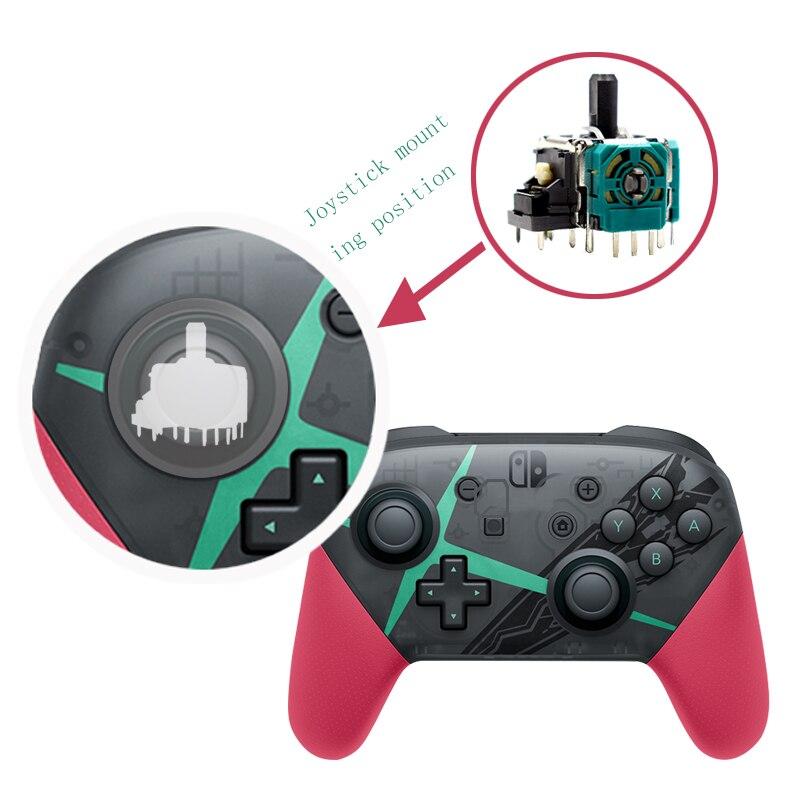 Original 3D Analog Joystick Wireless Thumb Sticks Sensor Replacement For NS Nintendos Switch Pro Controller