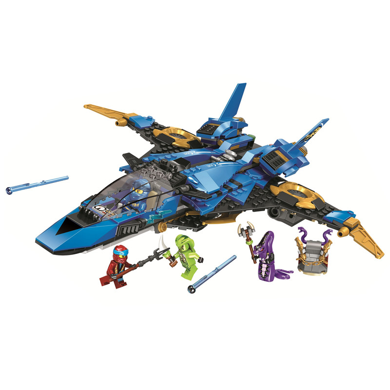 <font><b>Ninjagoed</b></font> Legacy Jay's Storm Fighter Building Blocks Kit Bricks Classic Movie Ninja Model Kids Toys For Children gift image