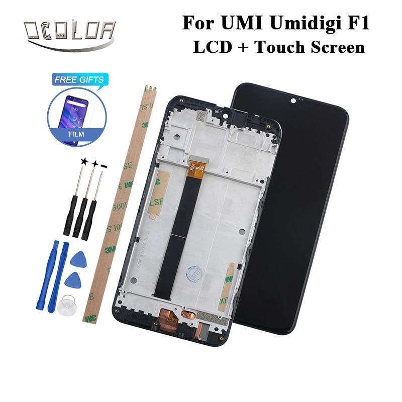 Kolor dla UMI Umidigi F1 wyświetlacz LCD i ekran dotykowy z ramką + narzędzia + klej do UMI Umidigi F1 grać telefon + Film w Ekrany LCD do tel. komórkowych od Telefony komórkowe i telekomunikacja na AliExpress - 11.11_Double 11Singles' Day 1
