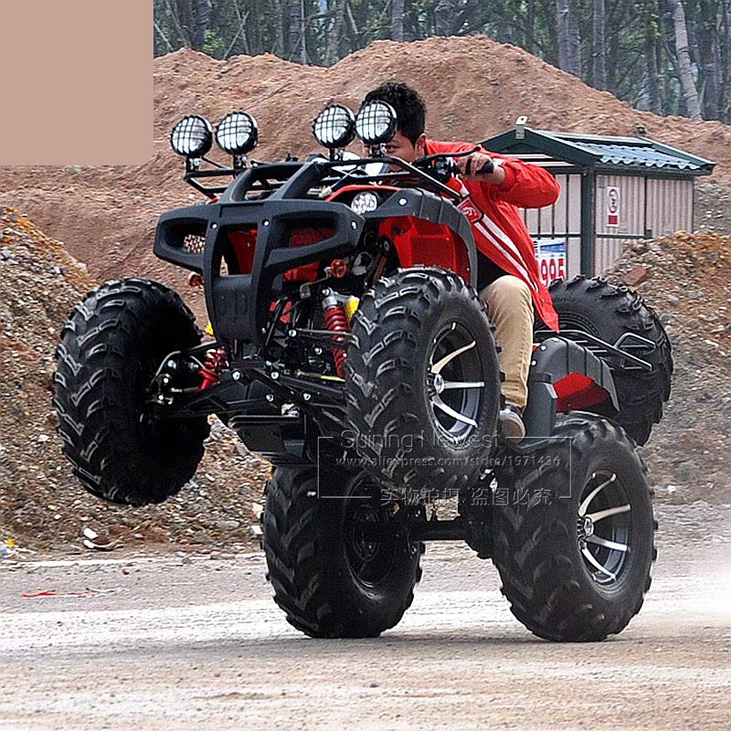 250CC Gas Powered Motorcycle ATV Outdoor Playground Teenagers Drive Farm Vehicle Sand Beach Buggy Racing Bicycle Quad Bike
