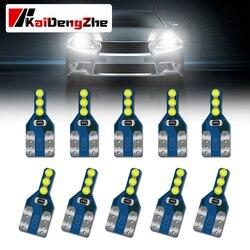 10 pièces T10 W5W Super lumineux 6 LED voiture feux de stationnement 168 501 2825 Auto coin tourner côté ampoules voiture intérieur lecture dôme lampe
