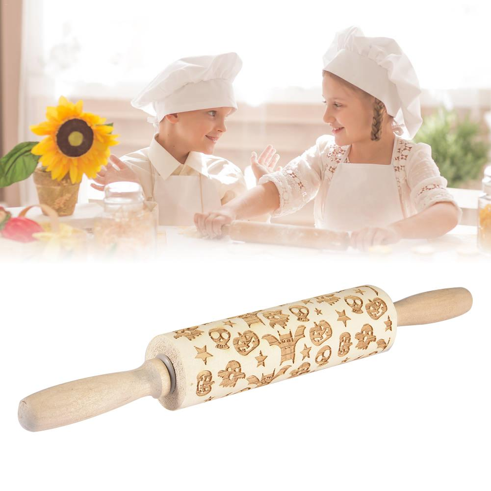 Willow rolling pin for children and adults making biscuit dough embossed baking needle