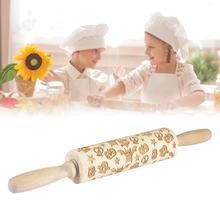 Willow rolling pin for children and adults making biscuit dough embossed rolling pin baking needle heart rolling pin