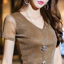 Women Spring Summer Style V-Neck Lace Blouses Shirt