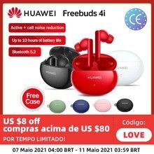 Versão global huawei freebuds 4i 4 i sem fio fone de ouvido ativo redução chamada bluetooth 5.2 fones de ouvido quente na rússia