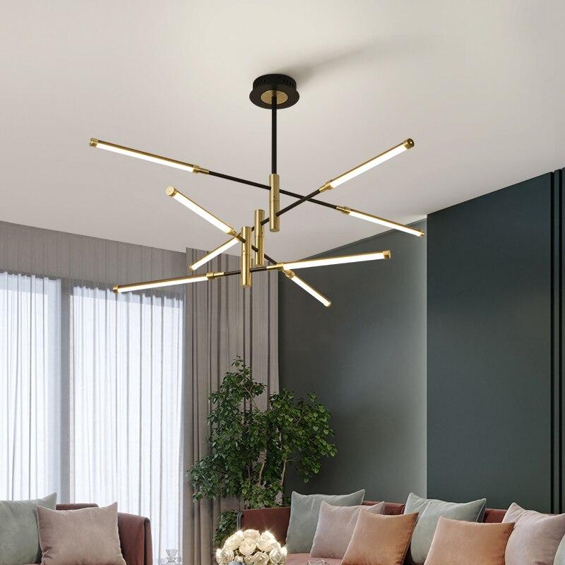 Nordic Chandelier Living Room Simple Modern Style Atmosphere Home Creative Personality Bedroom Lamp Modeling Lighting