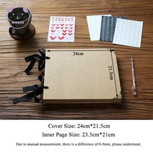 Image 2 - Angwingルーズリーフ/結婚式の写真アルバムスクラップブック20ページ空白/diyアルバム写真カバー自己粘着スクラップブックアルバムケースバインディング