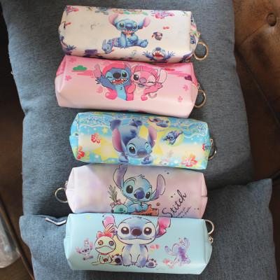 IVYYE Stitch Style Anime Cosmetics Bags PU Zipper School Pencil Case Storage Pen Bag Pouch Stationery Unisex Gifts New