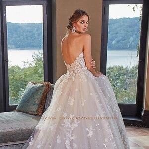 Image 4 - Kristall Appliques Blumen Glänzenden Prinzessin Hochzeit Kleid A Line Mit Abnehmbare Ärmel  China Vestidos De Boda
