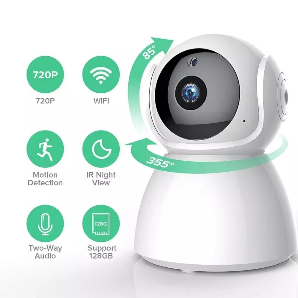 V380 pro wifi câmera ip secur segurança em casa 1080p câmera de vigilância sem fio ptz rastreamento automático ir visão noturna monitor do bebê