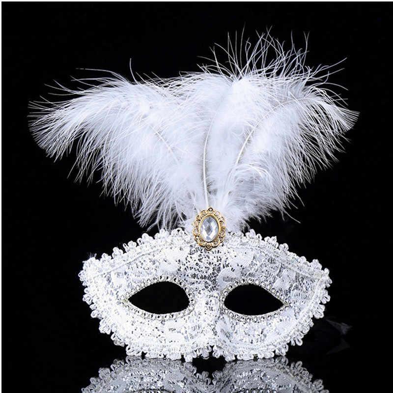 Halloween leder rose rot feder maske Weihnachten party blume maske badminton kleid abend maske