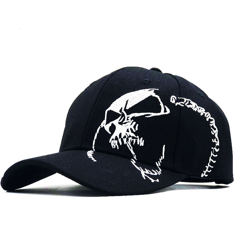 100% Cotton Outdoor Men Baseball Cap Skull Embroidery Hats Sports Snapback Caps For Men Women Unisex