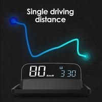 Proyector de velocidad de parabrisas inteligente para coche, dispositivo con pantalla HUD, GPS, USB, 12V/24V, compatible con todos los coches, velocímetro KMH/KPM Mirror