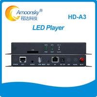 Huidu asíncrono controlador HD-A3 HD-A4 HD-A5 HD-A6 LED Video Dislay jugador caja con USD WIFI puede ampliar 3G 4G